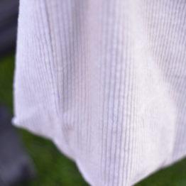 Detail van kinderwagentas in ribstof