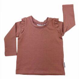 Ruffle shirt pink clay
